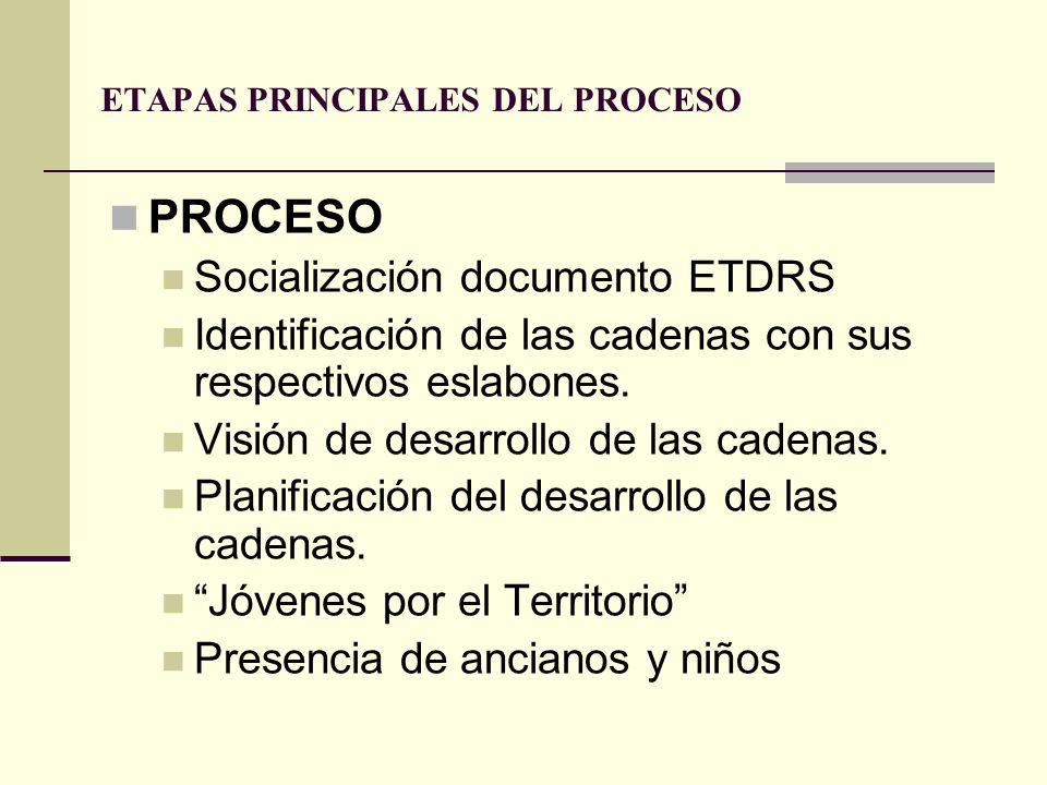 ETAPAS PRINCIPALES DEL PROCESO