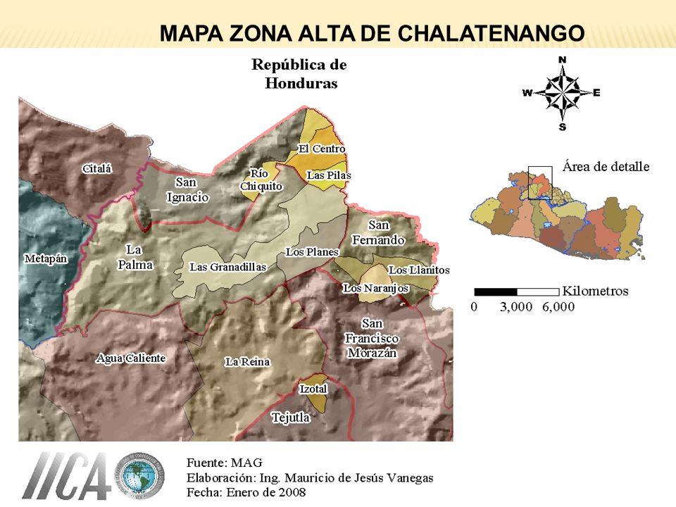 MAPA ZONA ALTA DE CHALATENANGO