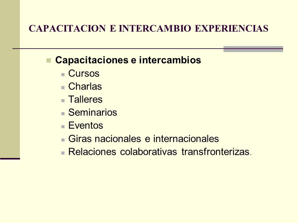 CAPACITACION E INTERCAMBIO EXPERIENCIAS