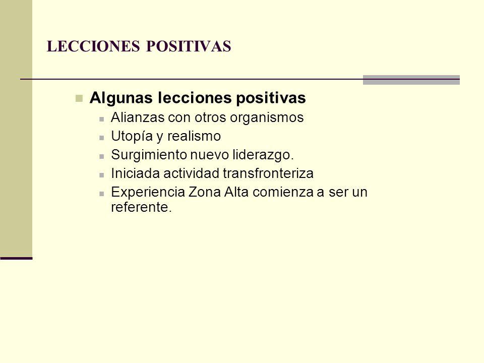 Algunas lecciones positivas