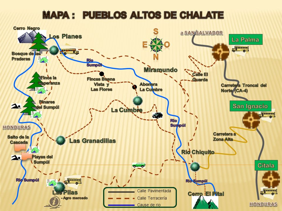 MAPA : PUEBLOS ALTOS DE CHALATE
