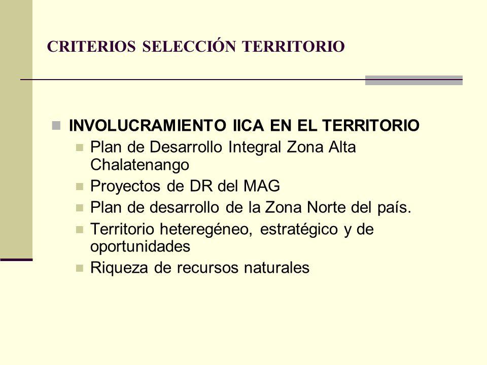 CRITERIOS SELECCIÓN TERRITORIO