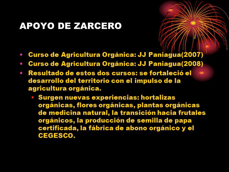 APOYO DE ZARCERO Curso de Agricultura Orgánica: JJ Paniagua(2007)