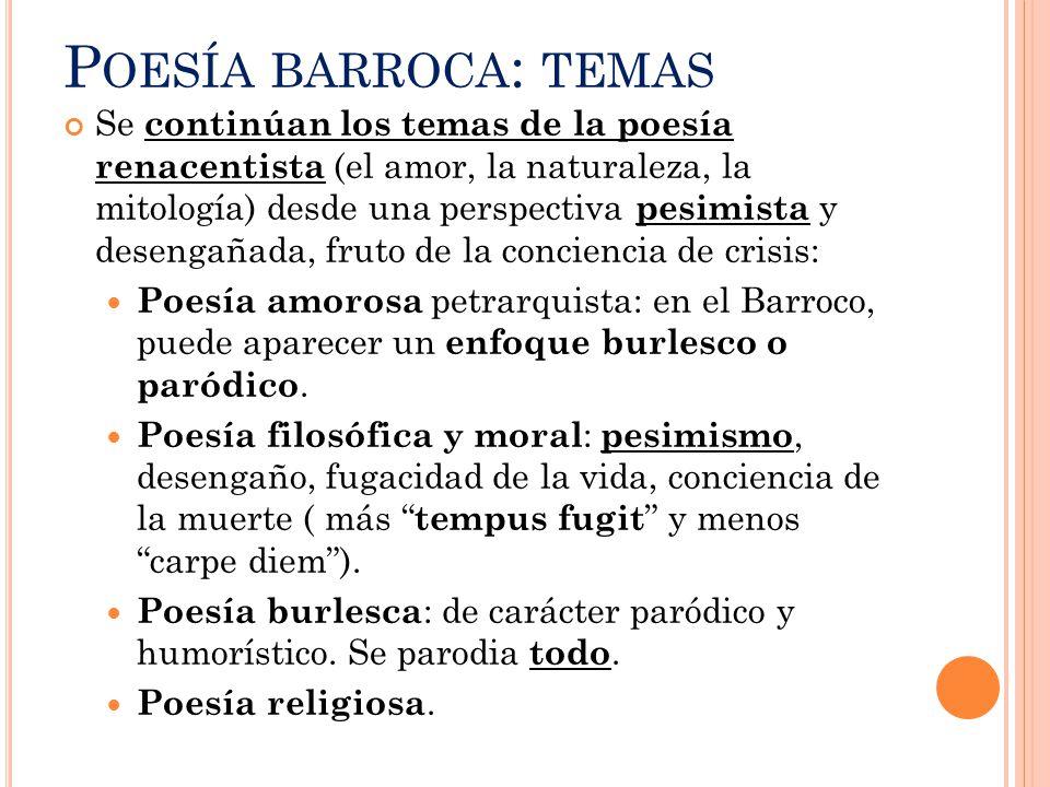 Poesía barroca: temas
