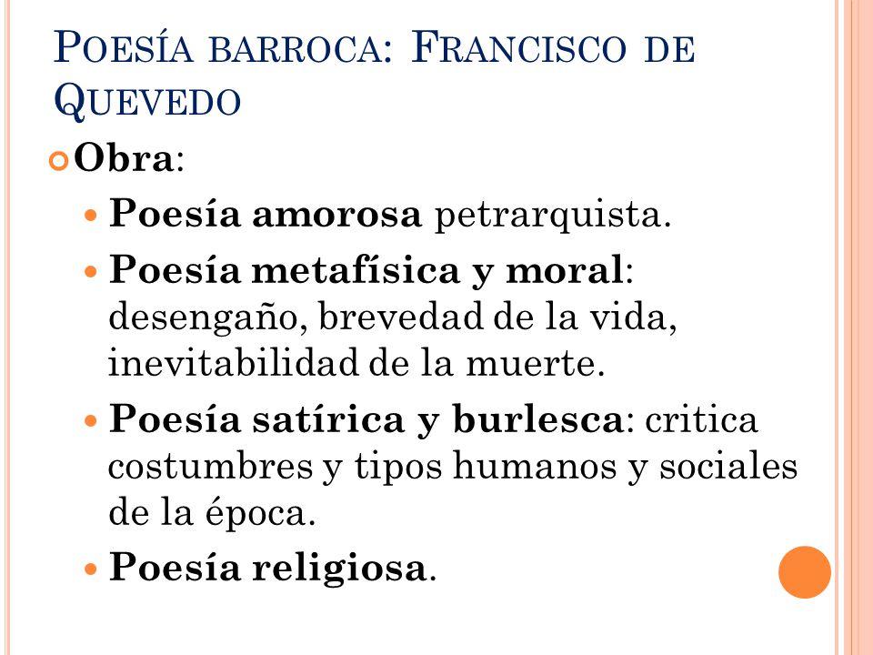 Poesía barroca: Francisco de Quevedo