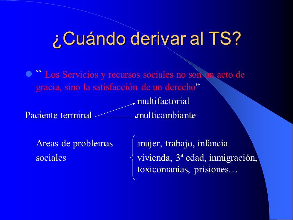¿Cuándo derivar al TS Los Servicios y recursos sociales no son un acto de gracia, sino la satisfacción de un derecho