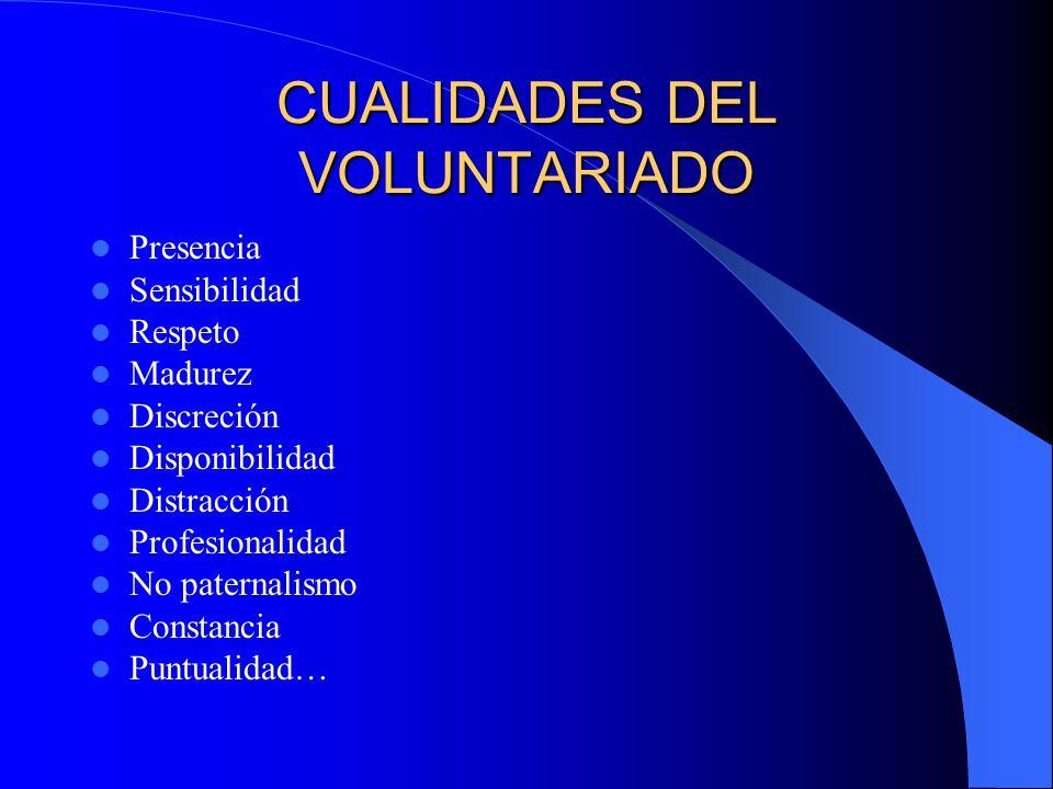 CUALIDADES DEL VOLUNTARIADO