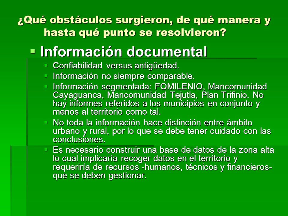 Información documental