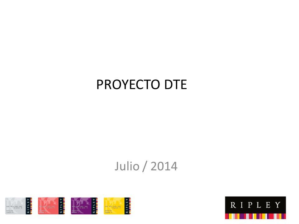 PROYECTO DTE Julio / 2014