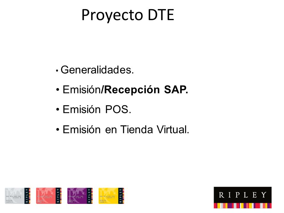 Proyecto DTE Emisión/Recepción SAP. Emisión POS.