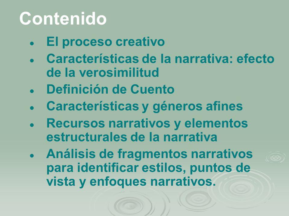 Contenido El proceso creativo