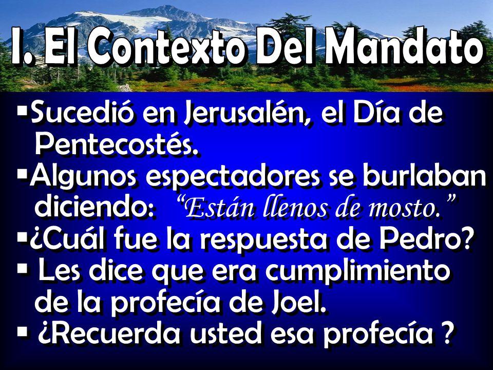 I. El Contexto Del Mandato