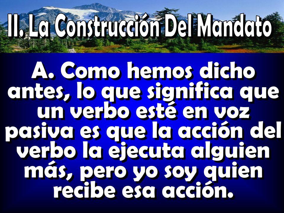 II. La Construcción Del Mandato