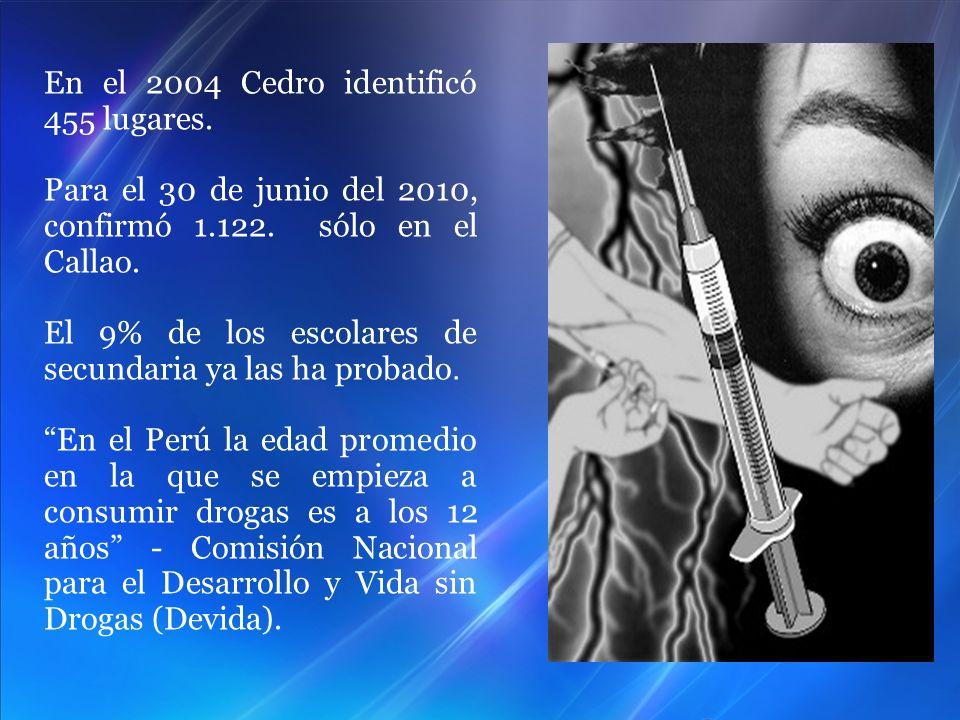 En el 2004 Cedro identificó 455 lugares.