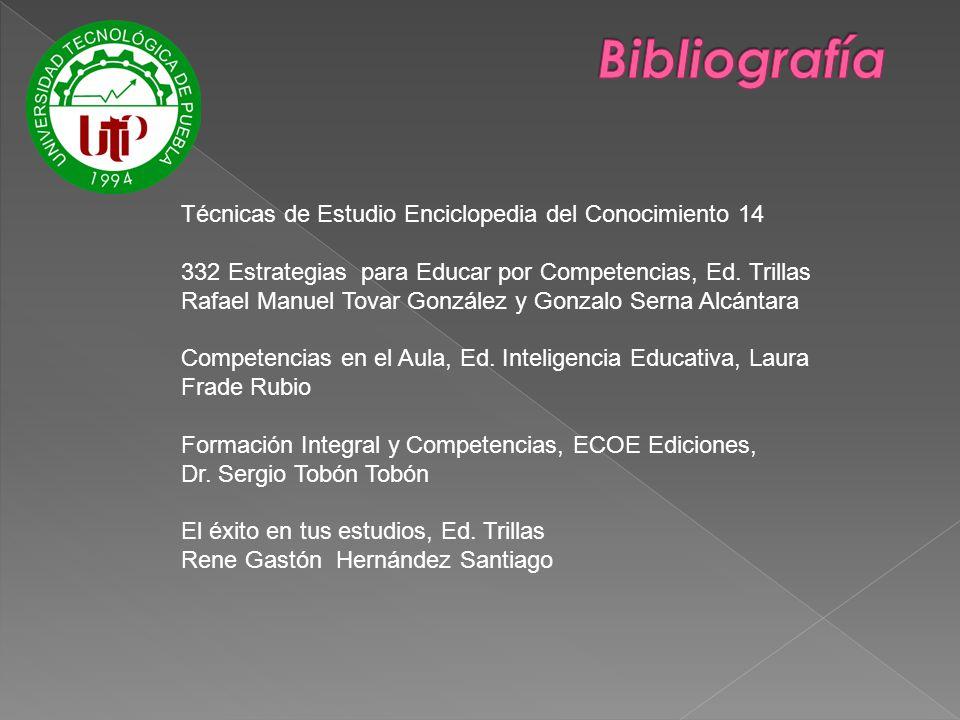 Bibliografía Técnicas de Estudio Enciclopedia del Conocimiento 14