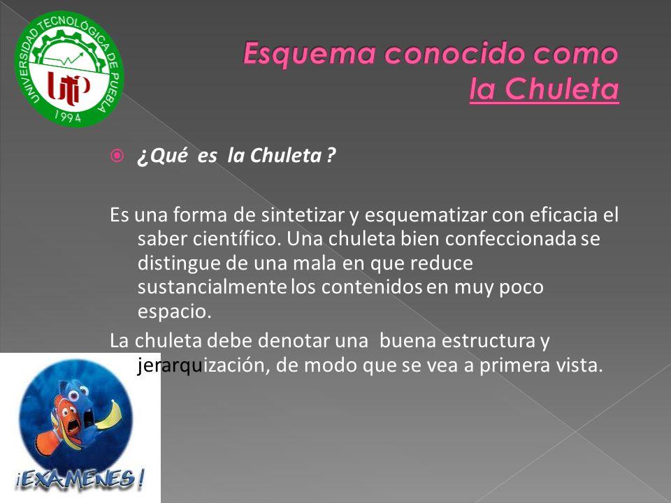 Esquema conocido como la Chuleta