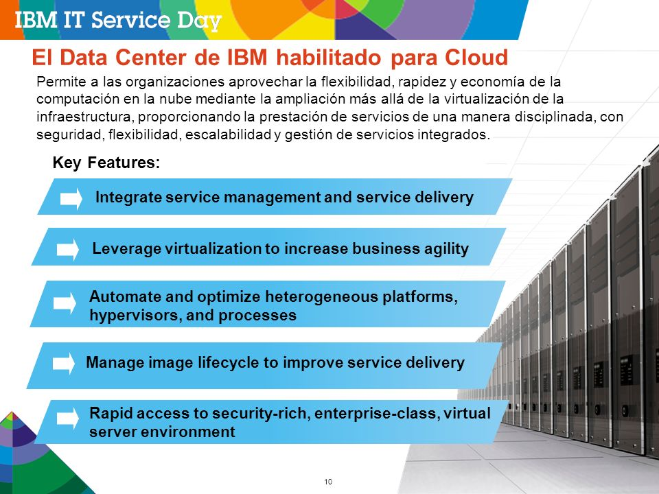 El Data Center de IBM habilitado para Cloud