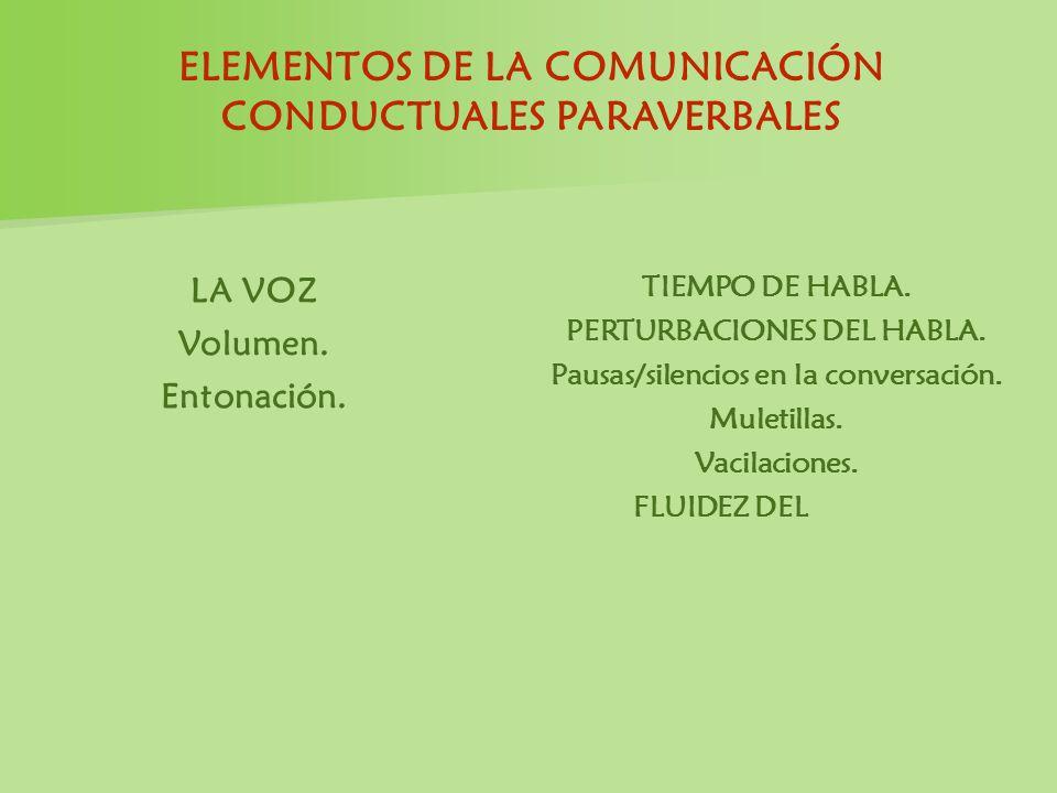 ELEMENTOS DE LA COMUNICACIÓN CONDUCTUALES PARAVERBALES