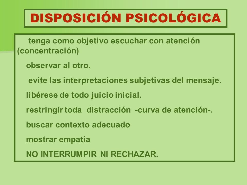 DISPOSICIÓN PSICOLÓGICA