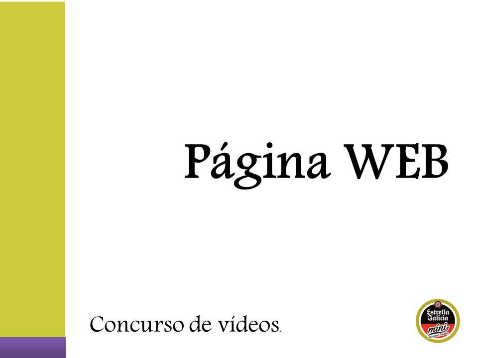 Página WEB Concurso de vídeos.