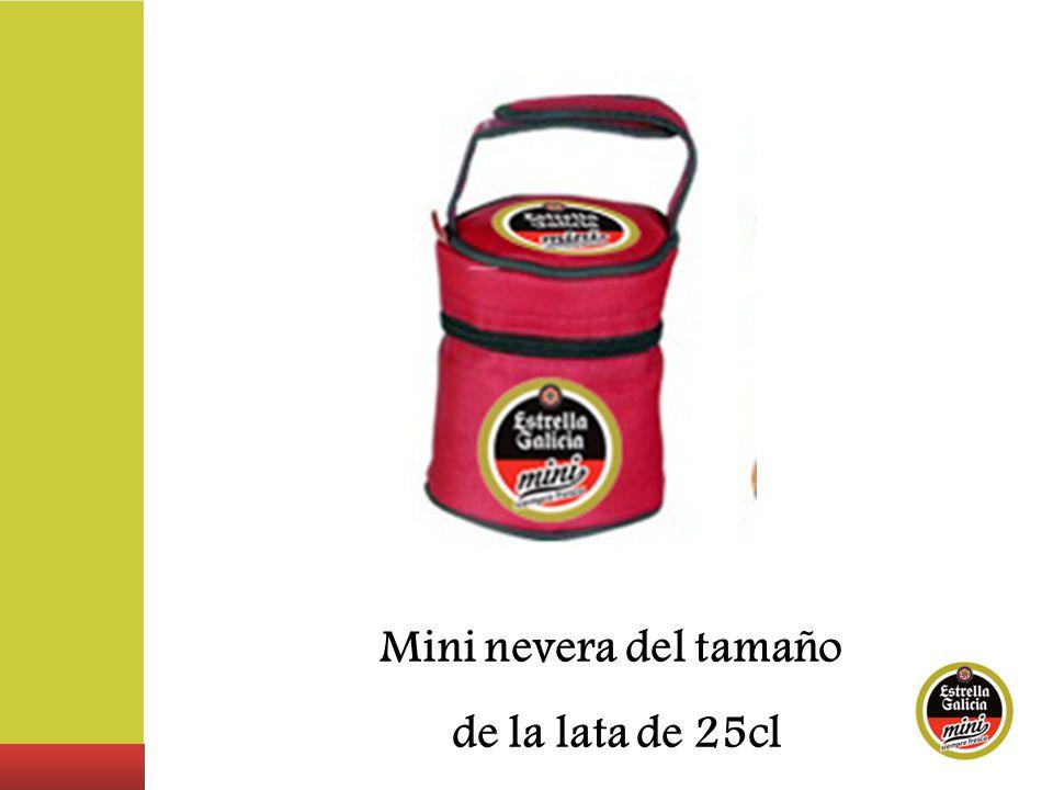 Mini nevera del tamaño de la lata de 25cl