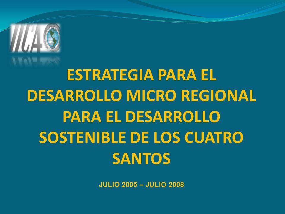ESTRATEGIA PARA EL DESARROLLO MICRO REGIONAL PARA EL DESARROLLO SOSTENIBLE DE LOS CUATRO SANTOS JULIO 2005 – JULIO 2008