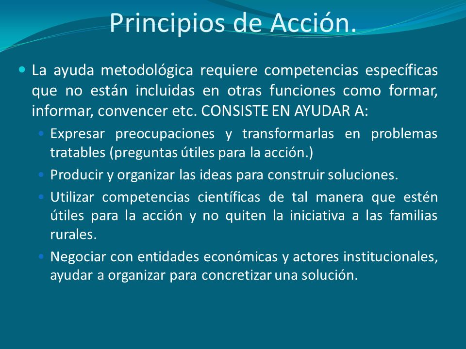 Principios de Acción.