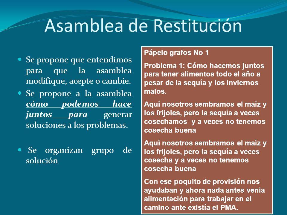 Asamblea de Restitución