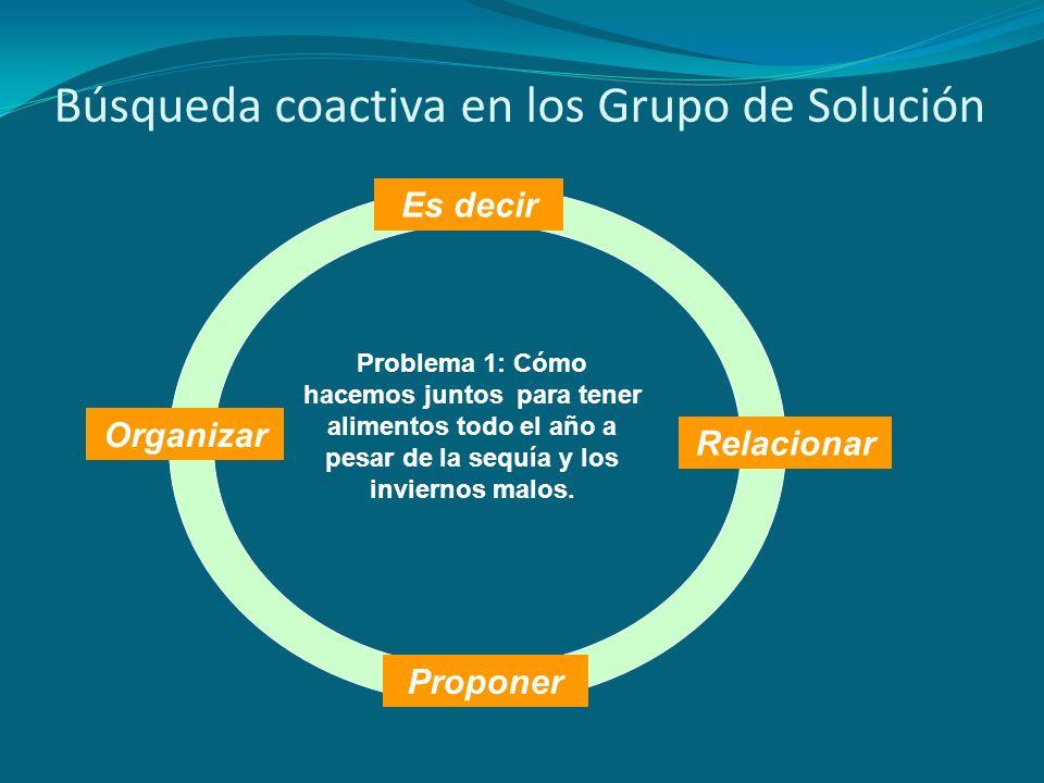 Búsqueda coactiva en los Grupo de Solución
