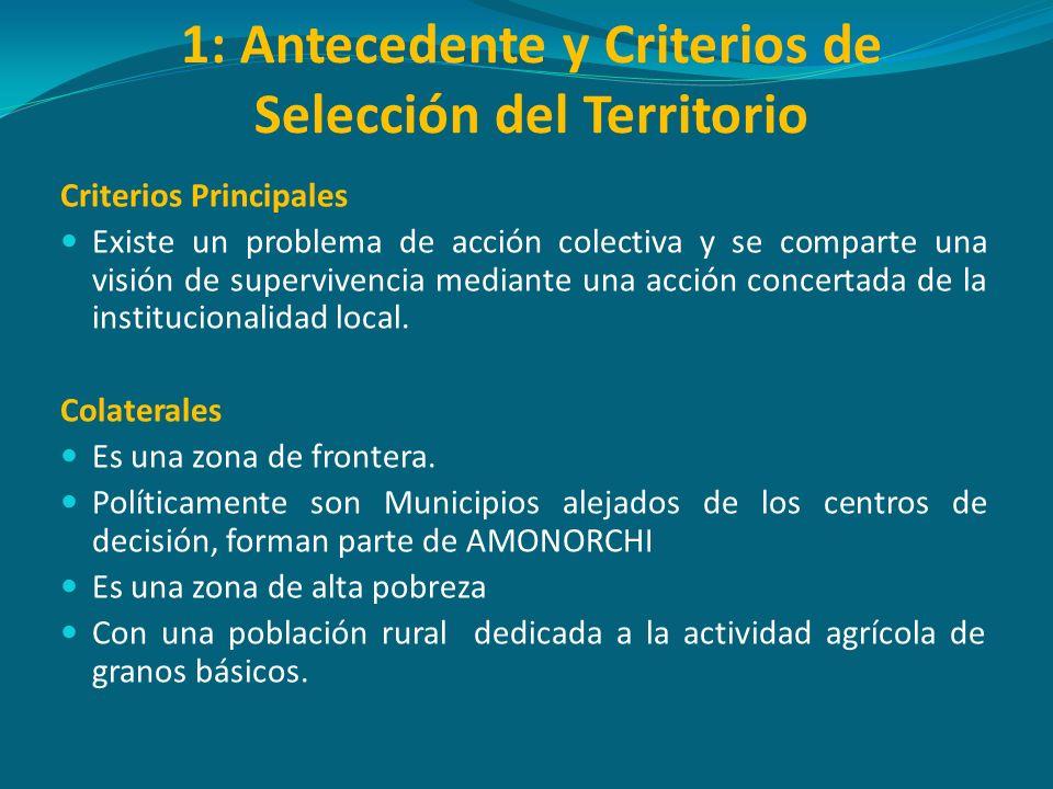 1: Antecedente y Criterios de Selección del Territorio