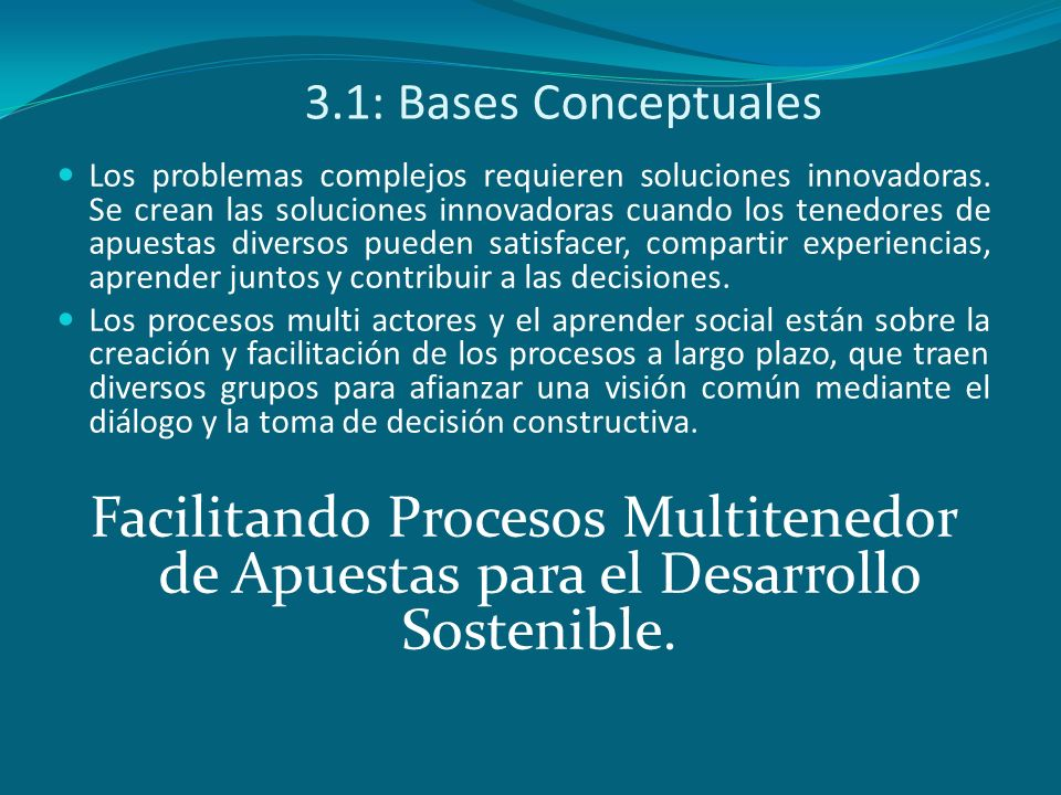 3.1: Bases Conceptuales