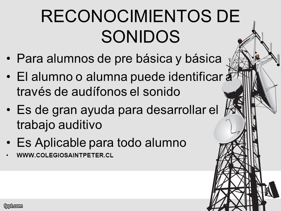 RECONOCIMIENTOS DE SONIDOS