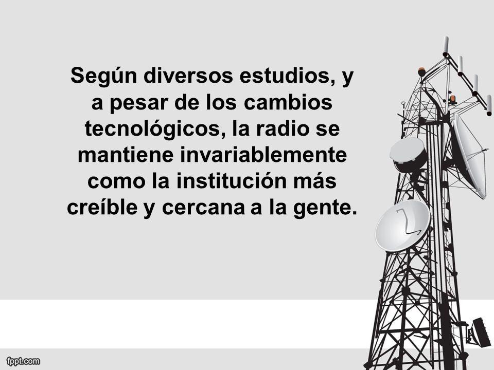 Según diversos estudios, y a pesar de los cambios tecnológicos, la radio se mantiene invariablemente como la institución más creíble y cercana a la gente.