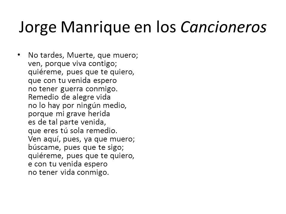 Jorge Manrique en los Cancioneros