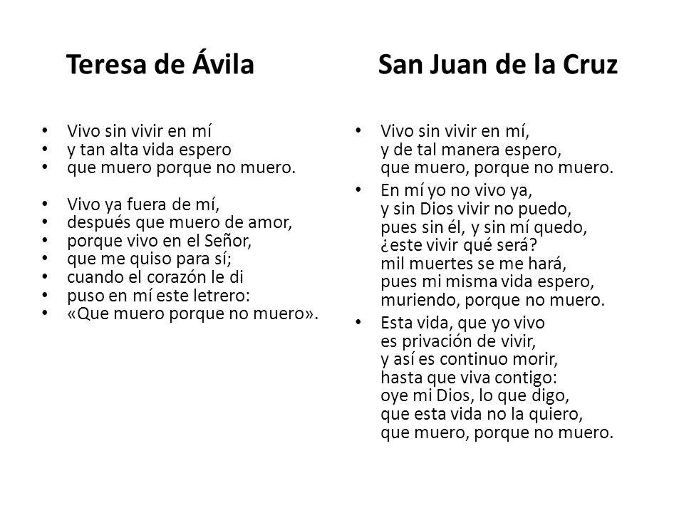 Teresa de Ávila San Juan de la Cruz