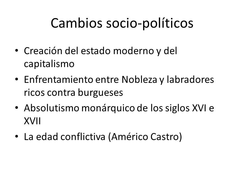 Cambios socio-políticos