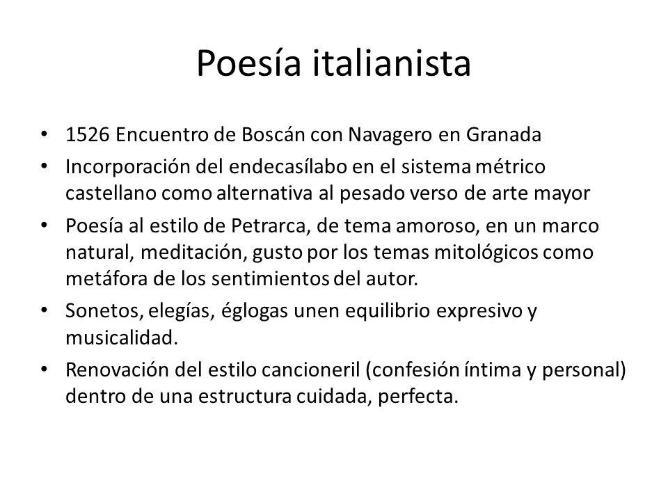 Poesía italianista 1526 Encuentro de Boscán con Navagero en Granada