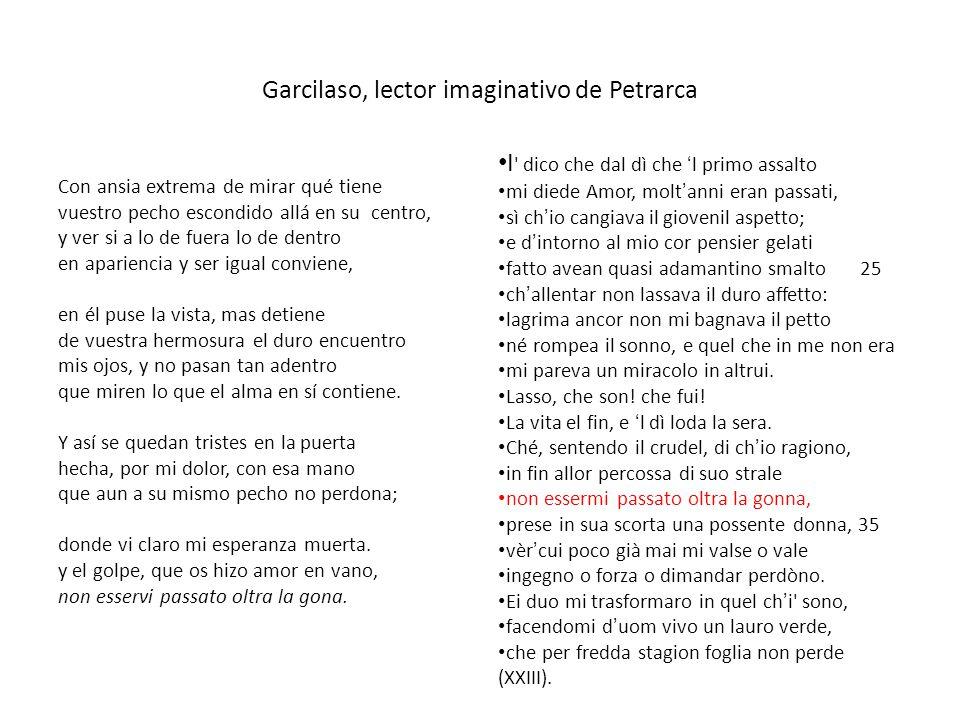 Garcilaso, lector imaginativo de Petrarca