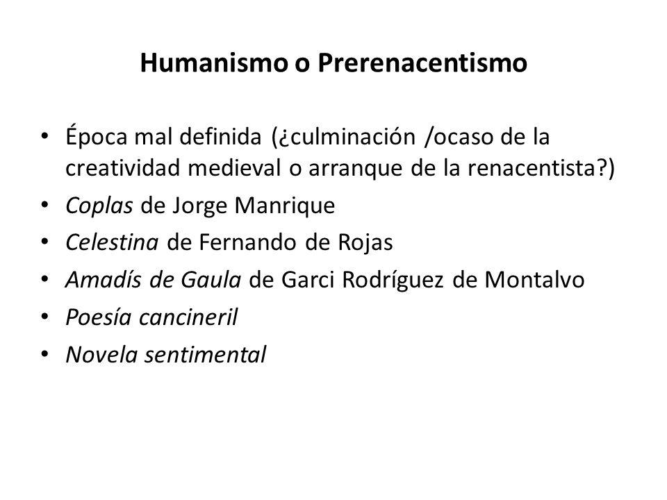 Humanismo o Prerenacentismo