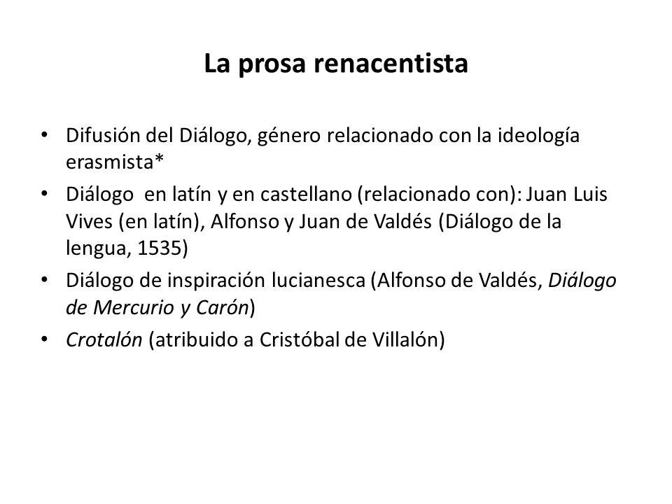 La prosa renacentista Difusión del Diálogo, género relacionado con la ideología erasmista*
