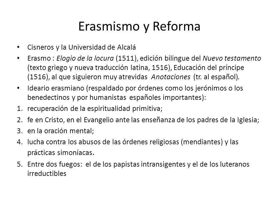 Erasmismo y Reforma Cisneros y la Universidad de Alcalá