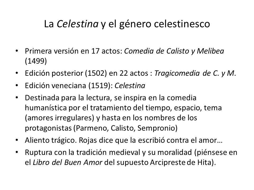 La Celestina y el género celestinesco