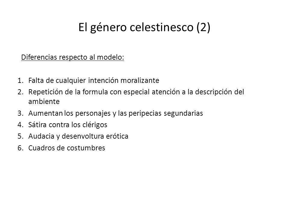 El género celestinesco (2)