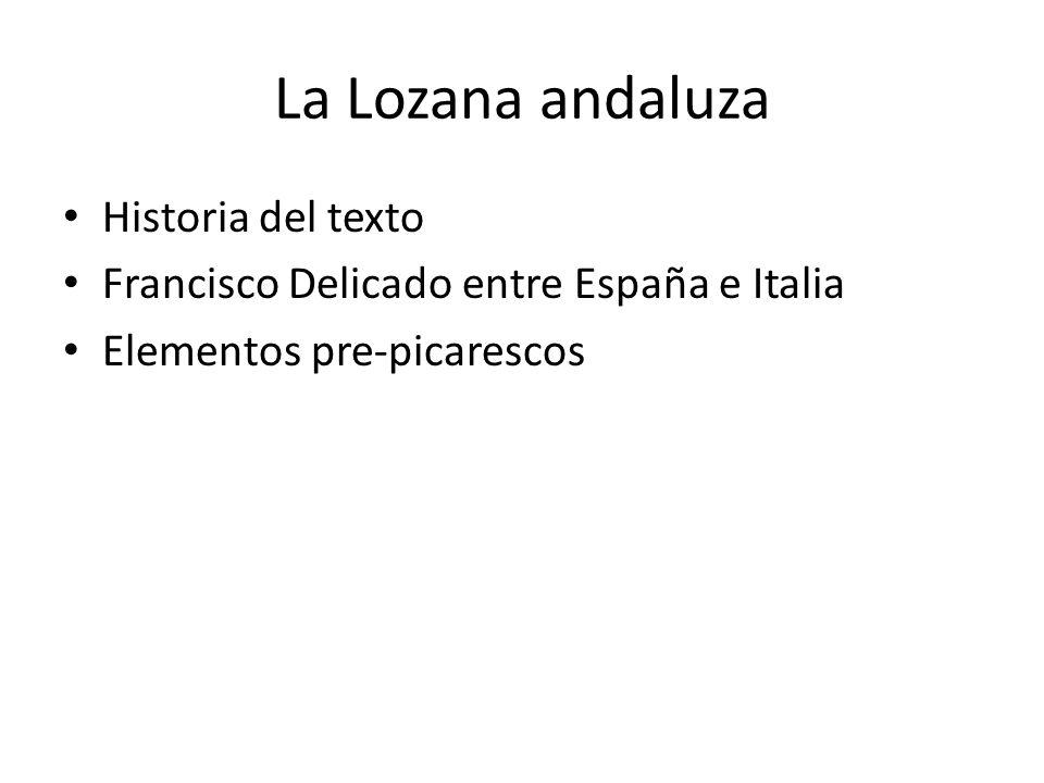 La Lozana andaluza Historia del texto