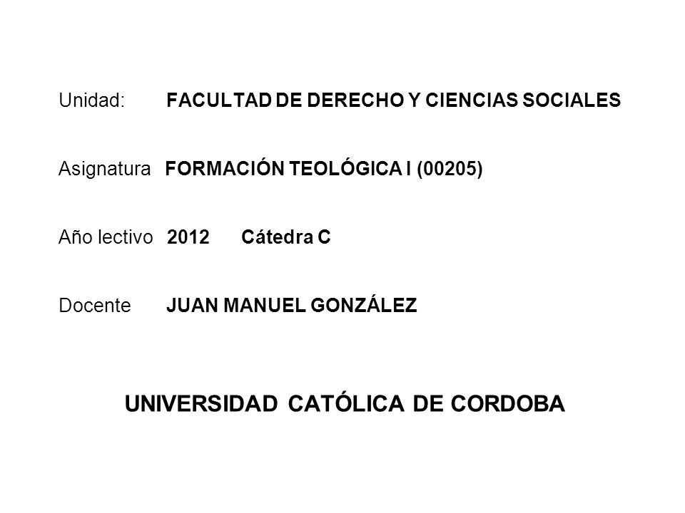UNIVERSIDAD CATÓLICA DE CORDOBA