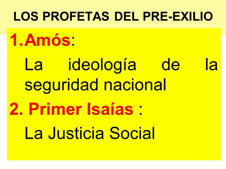 LOS PROFETAS DEL PRE-EXILIO