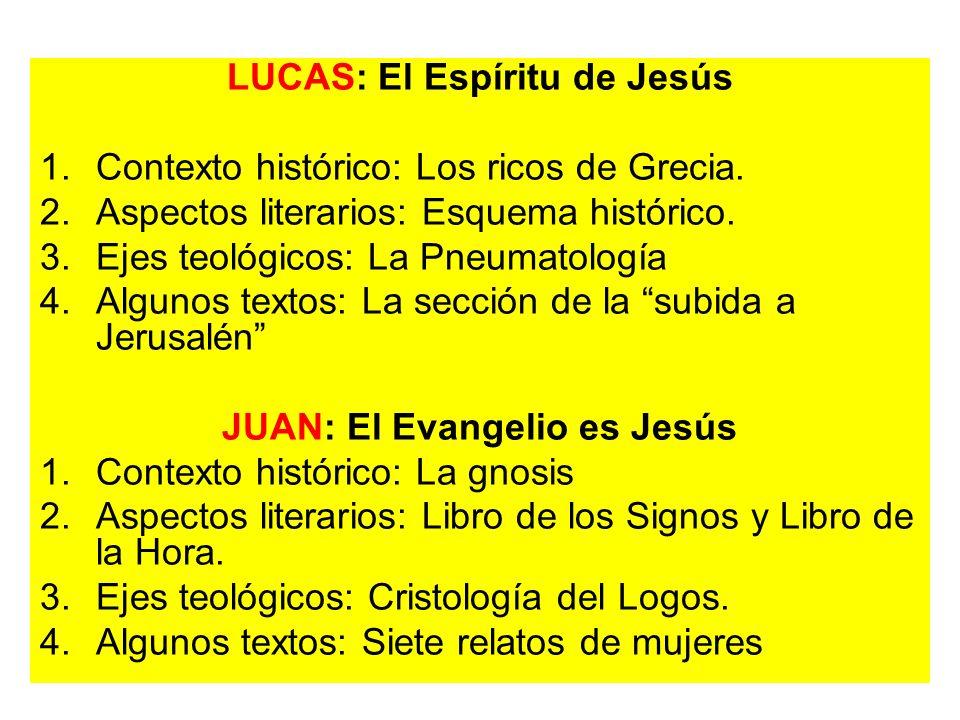 LUCAS: El Espíritu de Jesús