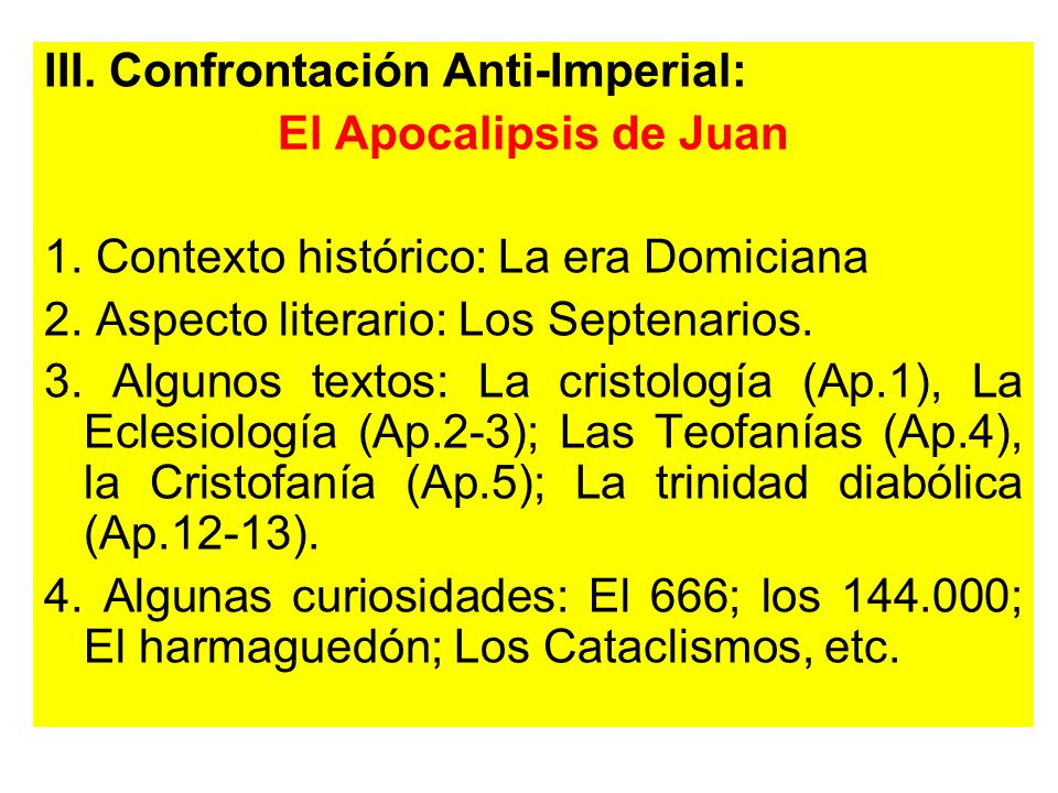 III. Confrontación Anti-Imperial: