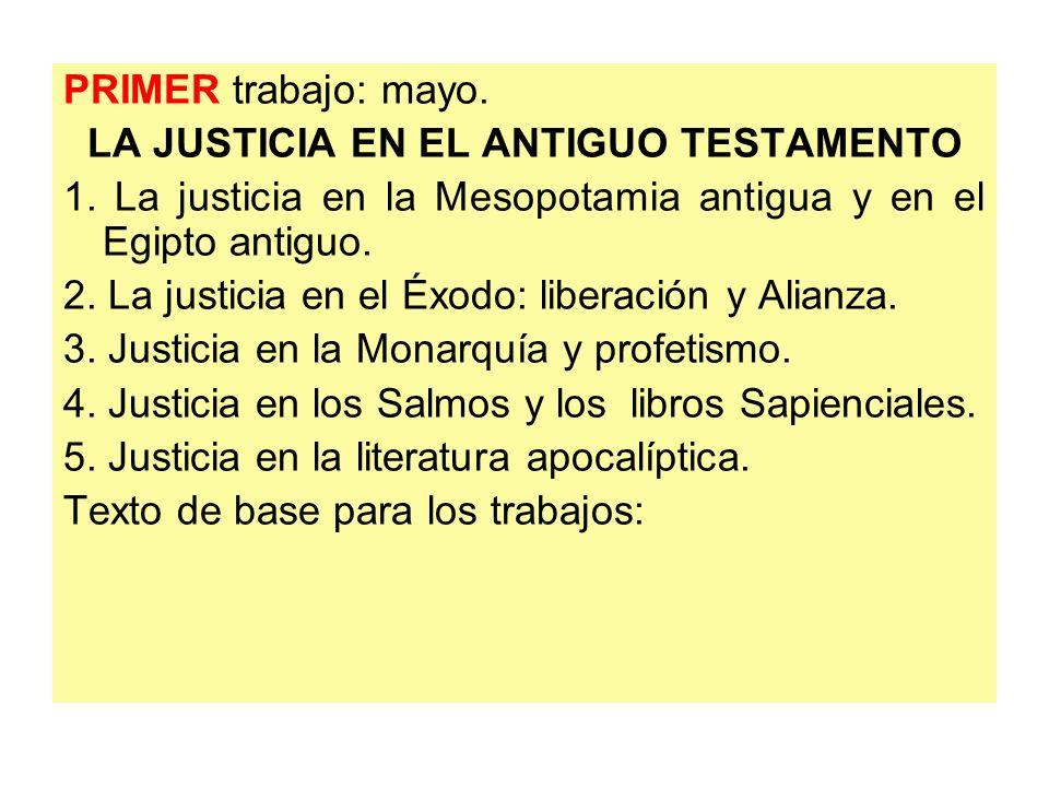 LA JUSTICIA EN EL ANTIGUO TESTAMENTO