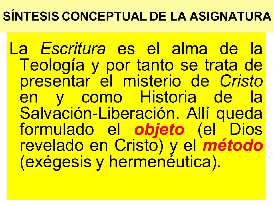 SÍNTESIS CONCEPTUAL DE LA ASIGNATURA
